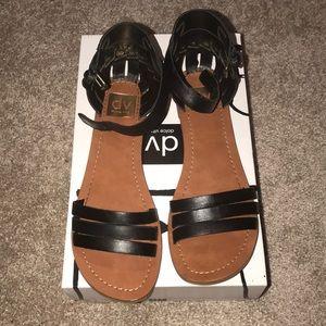 Dolce Vita Black Leather Sandals Sz 8.5